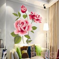 Amore Romantico 3D Rosa, Fiore Rimovibile Adesivo Da Parete Arredo Casa Camera
