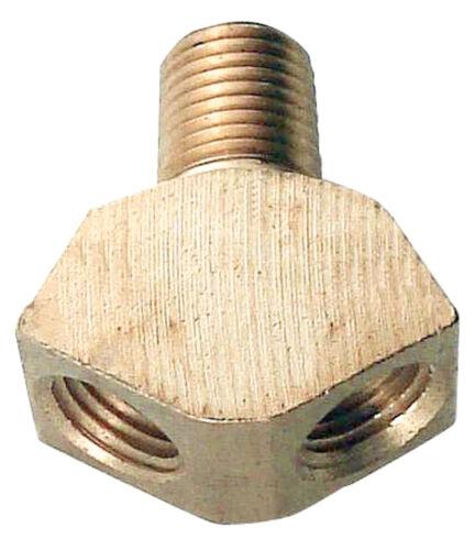 1//4in MPT x 1//4in FPT Brass Y Gas Splitter