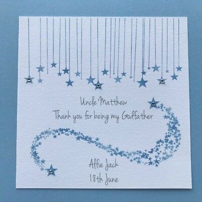Godparent Personalised Card Godfather Thank you for being my Godmother