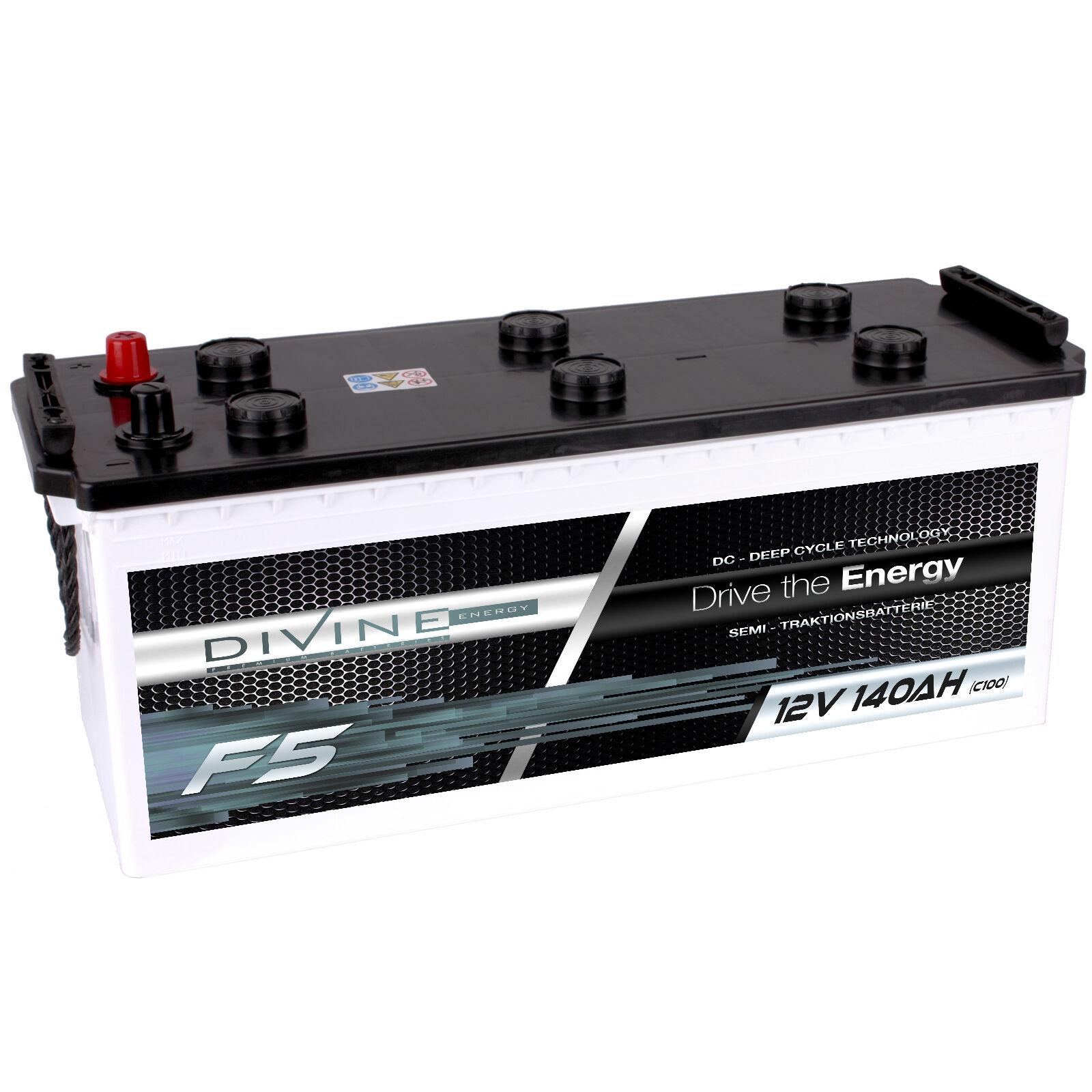 DiVine F5 Marine 12V 140Ah Batterie für Stiefel Yacht Schiff Marine F5 Antrieb Alarm Hobby 2895e3