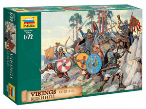 Zvezda-8046-1-72-Vikings-Wikinger-41-Figuren-10-Posen-GMK-Plastikmodellbau