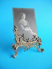 alter Tisch-Bilderrahmen Messing mit reichhaltigem Rocaille Dekor um 1900