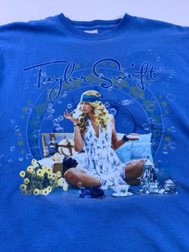 Taylor Swift Fearless Tour 2009 T Shirt Size M Blu