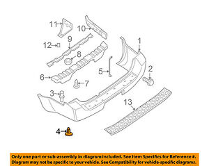 Details about NISSAN OEM 05-12 Pathfinder Rear Bumper-Bumper Cover Retainer  Clip 015530129U
