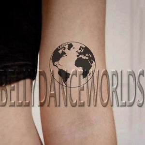 1 set of 2 black and white globe world map earth temporary tattoo la imagen se est cargando 1 conjunto de 2 blanco y negro globo gumiabroncs Image collections