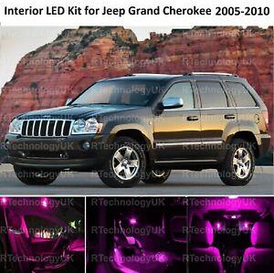 PINK PURPLE PREMIUM LED INTERIOR LIGHT BULB for JEEP GRAND CHEROKEE 2005-2010
