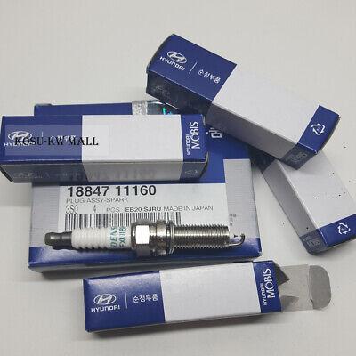 Set of 4 18847-11160 Genuine Hyundai Spark Plugs