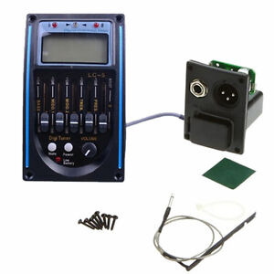 Acoustic-LC-5-EQ-Equalizer-Guitar-Preamp-Piezo-Pickup-Tuner-with-LCD-Display-Hot
