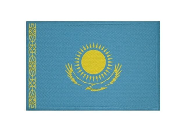 Aufnäher Kasachstan Fahne Flagge Aufbügler Patch 9 x 6 cm
