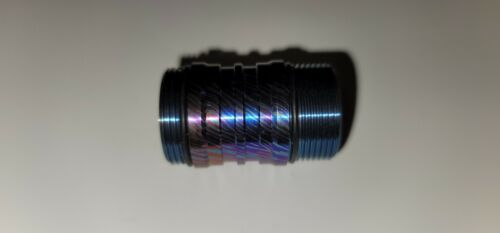 Emisar D4v2 Titanium 18350 Short tube D Blue Swirls USA DIRECT
