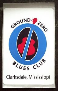 Amical 2x Blues Club Guitar Case Décalque Ground Zero-afficher Le Titre D'origine Pourtant Pas Vulgaire