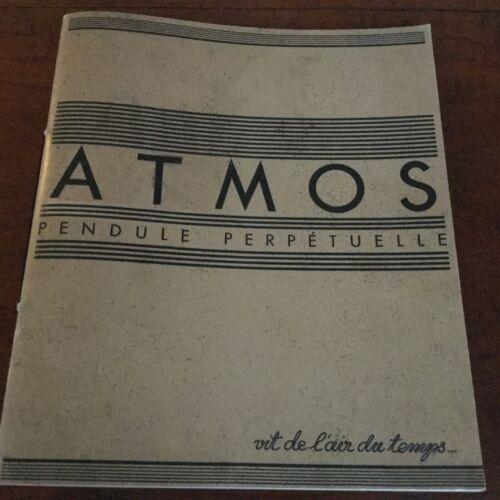 ATMOS REUTTER PENDULE PERPETUELLE BOOKLET 1932