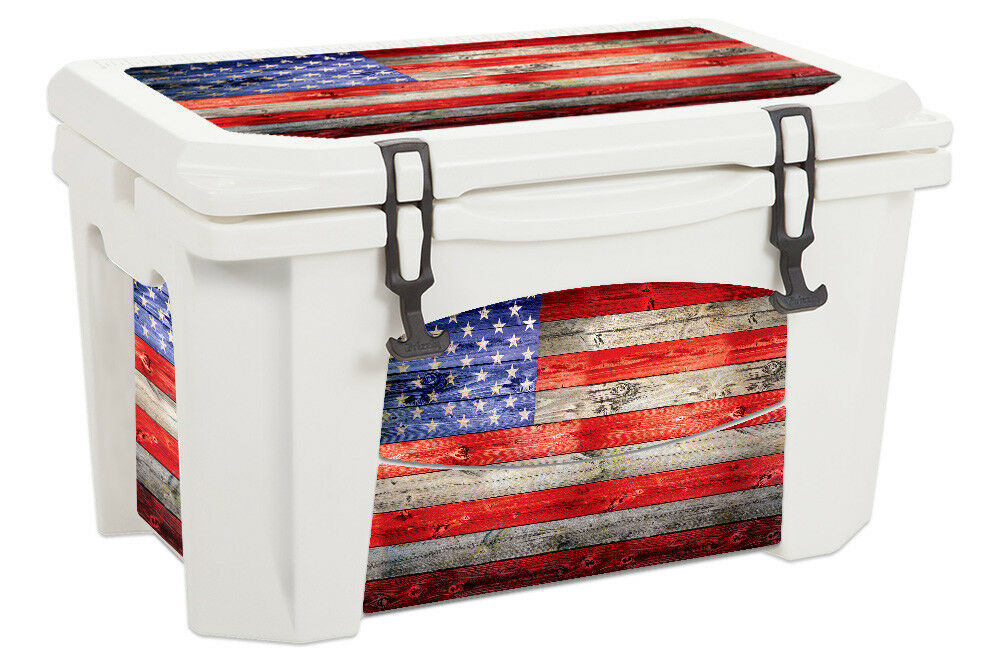 USATuff Custom Cooler Decal Wrap Decal Cooler fits Grizzly 75qt L+IOld Glory 24b129