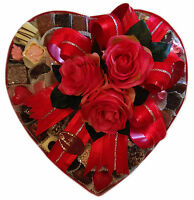 Heart Shaped 12 Assorted High Quality Belgian 65-68 Chocolates Platter 1000g
