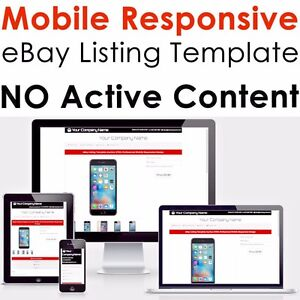 EBay Listing Template Professional Mobile Responsive Design HTML - Professional ebay listing templates