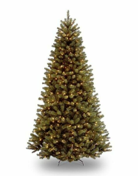 Artificial Christmas Tree 9 ft Prelit Spruce Hinged 700 ...