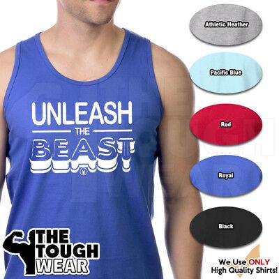 UNLEASH THE BEAST Gym Rabbit T Shirt Workout BodyBuilding Fitness Lifting c862