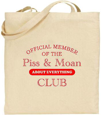 Official Mitglied Von Dem Urin Und Moan Club Groß Baumwolltasche Einkaufstasche