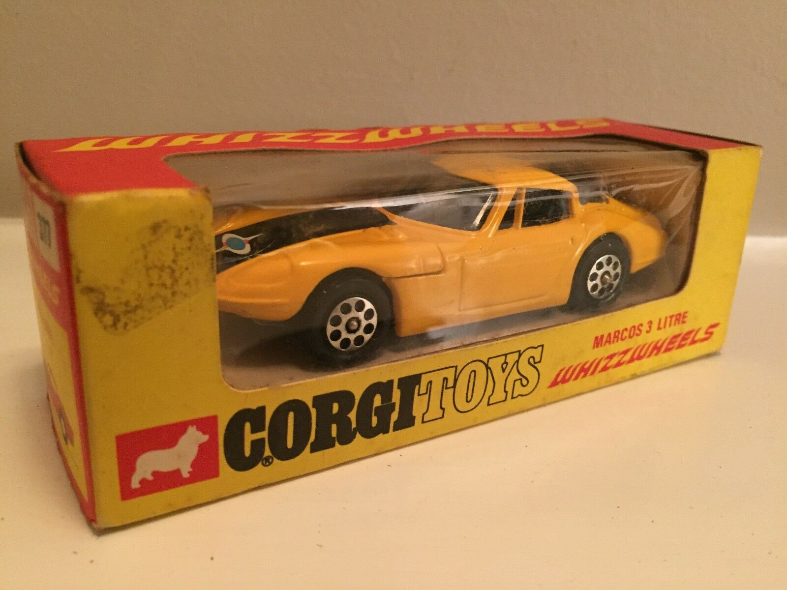 Vintage CORGI WHIZZWHEELS 377 Marcos 3 L dans boîte d'origine