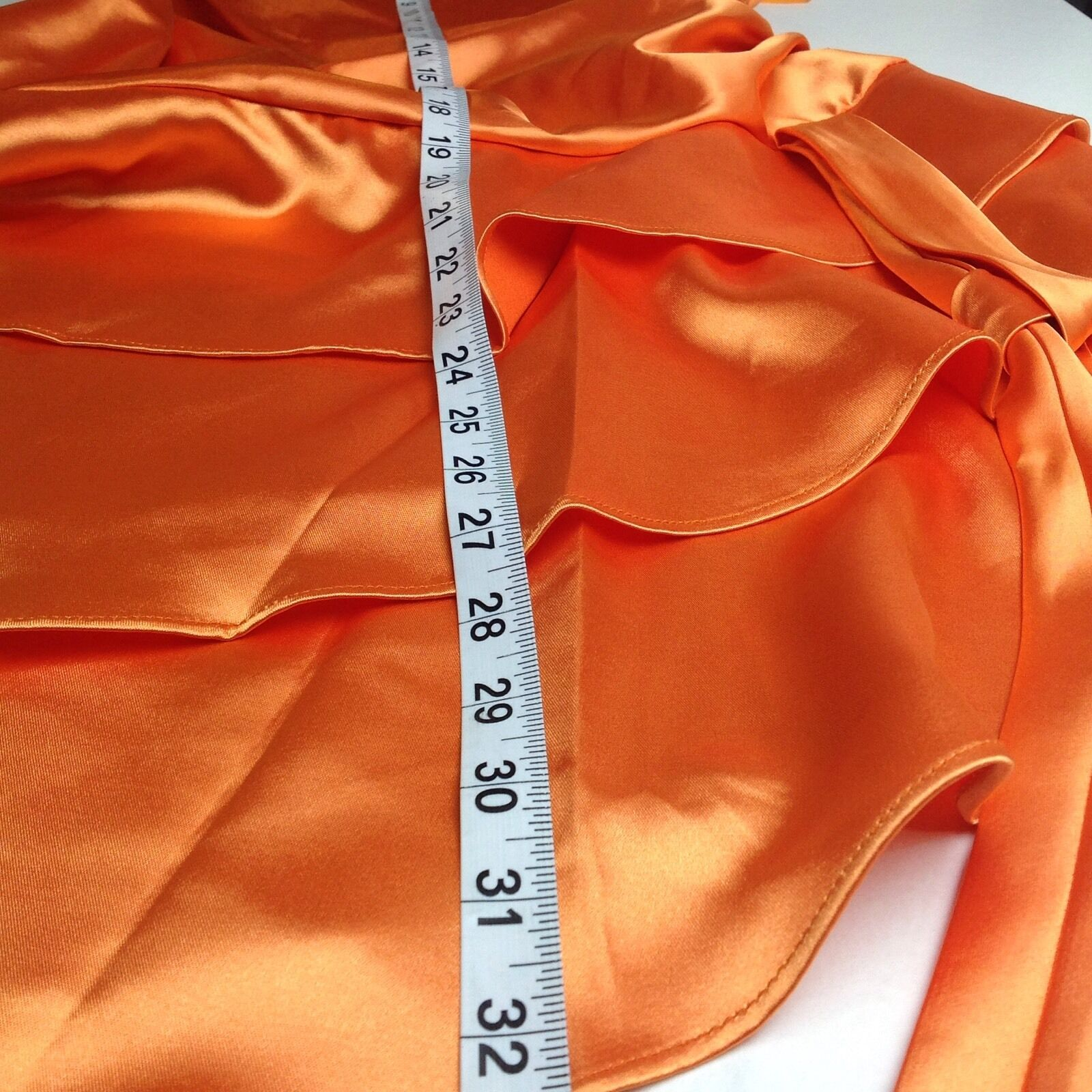 Cinderella Design Design Design orange Satin Spaghetti Strap Asymmetrical Tango Dress Size Sm 6cdb05
