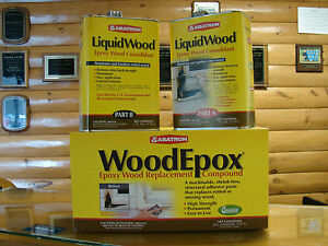 Abatron Liquidwood 174 Amp Woodepox 174 Wood Restoration 4 Gal