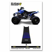 1986-2004 Yamaha Warrior Black/blue Ribbed Seat Cover By Enjoy Mfg