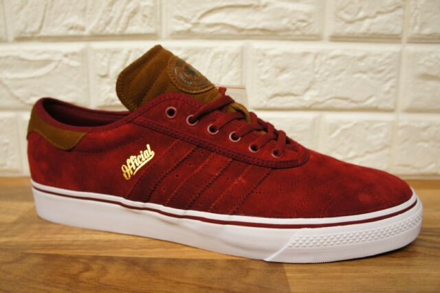 more photos fb19e dcf37 Adidas ADI-EASE Mens Size 7 Premiere Skateboard Burgundy Red Trainers BNWB  NEW