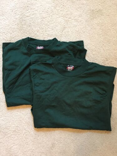 2x DeadStock NOS New Best Fruit of the Loom Blank Shirt Green Vtg 90s USA