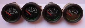 Gauges-Set-4-pc-Oil-Pressure-Temperature-Volt-Fuel-Gauge-2-034-Electric