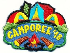 Details about Girl Boy Cub CAMPOREE 2018 Fun Patches Crest Badge SCOUT  GUIDE Camping Camp Out