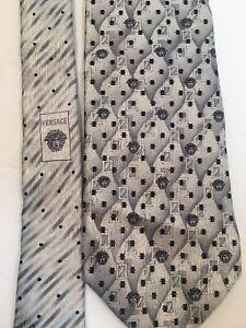Versace-Grey-Medusa-Tie-100-Silk