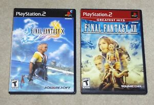 Final-Fantasy-X-amp-XII-Sony-Playstation-2-PS2-Both-Excellent-w-Manuals