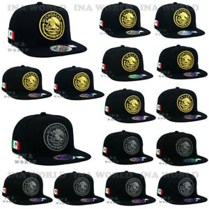 8951fe909d1c1 MEXICAN hat MEXICO Federal Logo State Snapback Flat bill Baseball ...