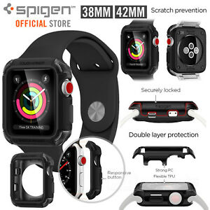 promo code 13c1a 1b8a3 Details about For Apple Watch Case (S3/S2/S1), Genuine SPIGEN Tough Armor 2  Cover for 38/42mm