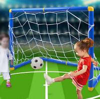 Children Kids Outdooor Toy Football Soccer Goalpost Goal Post With Net Kit Set