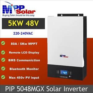 (mgx) solar inverter 5000w 48v 230vac mppt 80a solar charger max pv input 450v