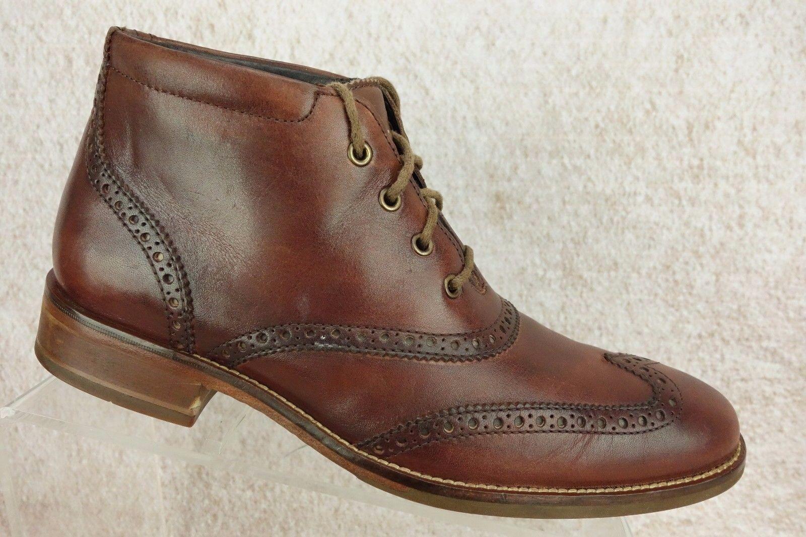 Cole Haan Williams Braun Leder Schuhes Wingtip Brogue Ankle Stiefel Schuhes Leder   Herren 7.5 M 8d9763