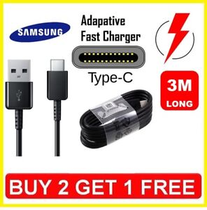 3-M-Original-Samsung-S8-S9-Type-C-cable-USB-C-Rapide-Chargeur-Veritable-Donnees-Sync-plomb