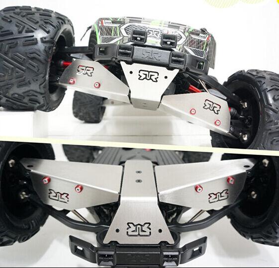 Steel bottom armor suspension arm protection bumper for ARRMA Fazon Nero 6pcs
