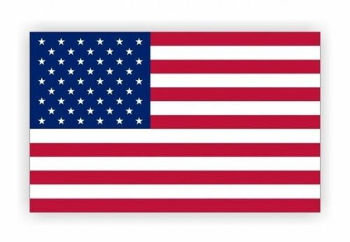 """MADE IN USA USA American Flag 3/""""x 5/"""" Genuine Static Cling Window Decal"""