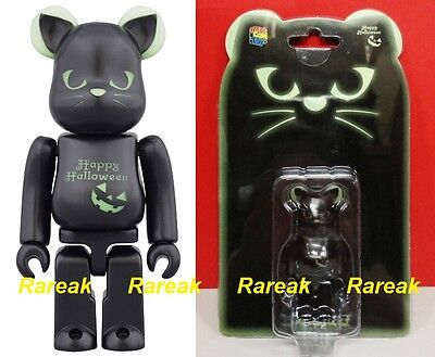 Medicom Be@rbrick 2016 Halloween 100/% Black Cat GID Green Bearbrick 1pc