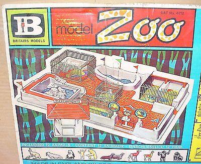 Britains Ltd 1:32 MODEL ZOO + FENCING + TICKETBOX + ANIMALS NMIB`74 TOP RARE!