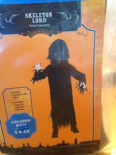 New SKELETON LORD Halloween Costume Size 4-6x