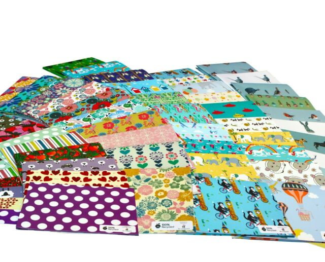 100/% Recycled ECO Friendly Birthday Gift Wrap Wrapping Paper