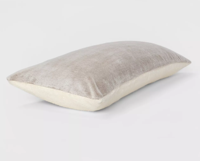 Room Essentials Faux Fur Body Pillow Cover