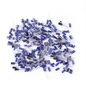 210Pcs 25 Value 0.1uF-220uF Electrolytic Capacitors condenser Assortment Kit Set