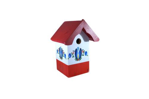 aus Holz Farbwahl Vogelnistkasten Worpswede Vogelhaus bemalt mit Muster