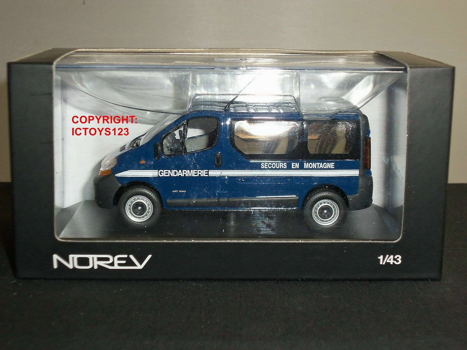 NOREV 518061 renault trafic gendarmerie police française bleu Diecast Model Van
