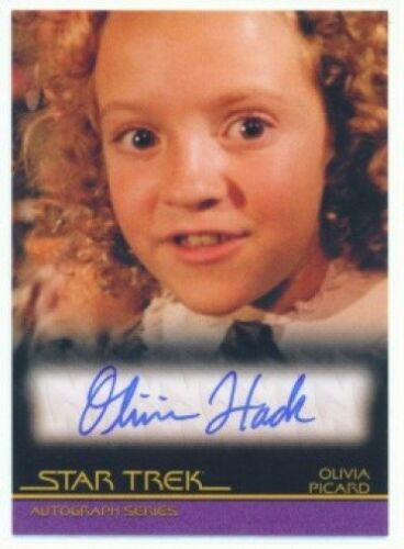 "OLIVIA HACK ""AUTOGRAPH CARD A108"" QUOTABLE STAR TREK MOVIES"