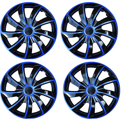 15/ Inches Each Blue Logo Set of 4 Hubcaps